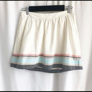 Old Navy skirt with stripe detailing by the hem